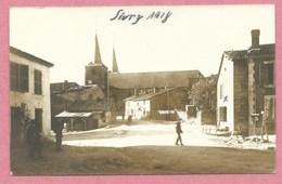 55 - SIVRY - Carte Photo Allemande - Vue Du Village - Soldats Allemands - Guerre 14/18 - France