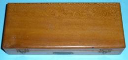 Rare Ancien Coffret/boite à Système En Bois (érable Maillé) Pour Jeu De Cartes Billards Jeux ROBIN Lyon - Cartes à Jouer