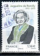France 2020-3 Jacqueline De Romilly-cachet Rond - Oblitérés