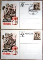 2 Kriegs WHW1 X  Mit SST Bremen Tag Der Briefmarke 1941 - 1 X Ungebraucht - Interi Postali
