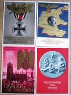 4 Ungebrauchte Ganzsachen Hitler,Danzig,Reichsparteitag,eisernes Kreuz 3 X Ungebraucht, 1 X SST Braunau 1938 - Interi Postali