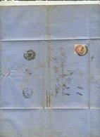 1869 17 Luglio Da Lonigo Per Gazzaniga Con 5 Soldi Dent.9 1/2 Affrancatura Insufficiente - Lombardo-Veneto