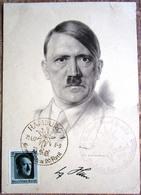 Sonderkarte Mit Kopfbild Hitler + Blockmarke Und SST Hamburg 1937 Sammlergemeinschaft Kraft Durch Freude - Briefe U. Dokumente