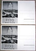 2 Sonderkarten 1. Kreisfest N S R L 1939 Bremen 1 X Ungebraucht, 1 X Mit Sondermarke Und SST Bremen 1943 - Lettere