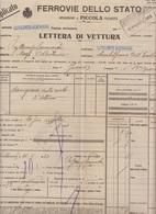 ** FF.SS.- LETTERA DI VETTURA , CASTELNUOVO GARFAGNANA.- (LU).-** - Italia