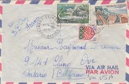 Lettre Obl Irissarry Le 11/1/63 Sur N° 1314 (Cognac), 1352 (Amiens), 1355 (Le Touquet) = 1f55 Tarif 6/1/59 Pour Les USA - Francia
