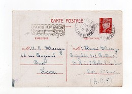 !!! ENTIER 1,20 F PETAIN DE 1942 AVEC SURTAXE AERIENNE POUR BOBO DIOULASSO - Guerre De 1939-45