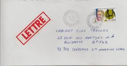 Timbre Seul Sur Lettre N°3146, 400ème Anniversaire De L'édit De Nantes (oblitération Du 10/11/1998) - Postmark Collection (Covers)