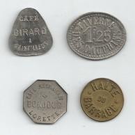 Chintillieux (Girard 10c)-halte Du Barrage (12 1/2c)-Lorette (Bonjour 12 1/2c)-Taverne Dauphins (1.25f) - Monétaires / De Nécessité