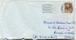 FRANCE LETTRE DEPART POSTE AUX ARMEES 5-7-65 POUR L'ITALIE - 1962-65 Coq De Decaris