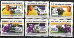 GUINEE   N° 3417/22 * * ( Cote 15e ) Gandhi Oiseaux Paon Perroquets Rhinoceros - Mahatma Gandhi