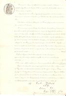 Lot De 3 Vieux Papiers Du Béarn, 1878, Créance Du Maire Vignau D'Aubertin Contre Mayaïre Lacau De Saint-Faust + Plan - Documents Historiques