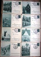 8 Verschiedene Bildganzsachen Zum Reichsparteitag 1937 Nürnberg Alle Gestempelt Mit SST Nürnberg - Deutschland