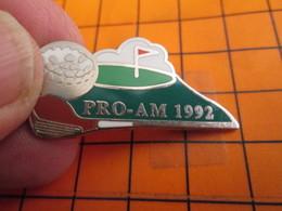 520 Pin's Pins / Beau Et Rare  / THEME SPORTS : GOLF TOURNOI PRO-AM 1992 Par COINDEROUX PRIVILEGE - Golf