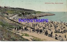 130129 UK WHITMORE BAY BARRY ISLAND VIEW PARTIAL POSTAL POSTCARD - Sin Clasificación