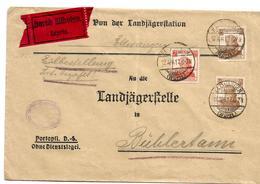 Württemberg XX003 / Dienstbrief Von Ellwangen Nach Bühlertann 12.4.17 Per Eilboten - Wuerttemberg