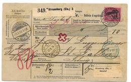 Elsass Xx001 / Paketkarte Ex Strassburg Nach St.Gallen / Schweiz 1903 - Wuerttemberg