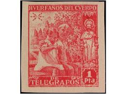 SPAIN: BENEFICENCIA. HUERFANOS TELEGRAFOS - España