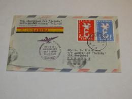 Belgium First Flight Cover 1958 - Belgium