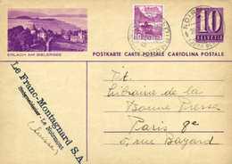 ENTIER POSTAL HELVETIA  10+Timbre 10 ERLACH AM BIELERSSE  ° Beau Cachet  NOIRMONT (JURA BERNOIS)    RV - Entiers Postaux