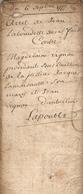Vieux Papier Du Béarn, 1777, Arrêt De Jean Labourdette De Saint-Faust Contre Magdelaine Vignau D'Aubertin - Documents Historiques