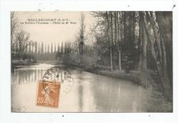 Cp , 91 , BALLANCOURT , La Rivière L'ESSONNE , Pêche De Mr WEIS , Voyagée 1929 , Ed : Cosson - Ballancourt Sur Essonne