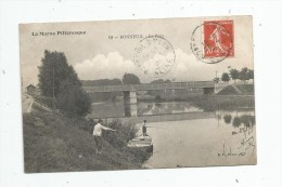 Cp , 94 , BONNEUIL , Le Pont , Pêche , Pêcheurs , Voyagée 1909 - Bonneuil Sur Marne