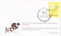 35890. Tarjeta BARCELONA 2002. 100 Años Agrupacion Mutua Comercio E Industria - 1931-Hoy: 2ª República - ... Juan Carlos I