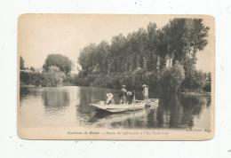 Cp, 77 , Poste De Pêcheurs à L'île POMMIER , Environs De MEAUX , Sports ,pêche , Barques ,animée , Dos Simple , Vierge - Autres Communes
