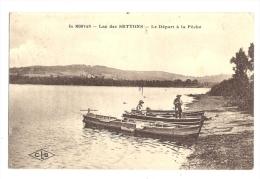 Cp, 58, Lac Des Settons, Le Départ à La Pêche, Voyagée 1921 - France
