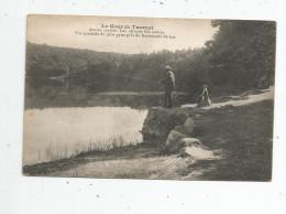 Cp , 63 , LE GOUR DE TAZENAT , Ancien Cratére , Lac , Pêche , Pêcheurs , Vierge , Ed : Michel - France