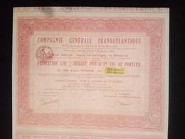 1 Cie Générale Transatlantique PUTEAUX, Obligation 8,90% , 1973 + Coupons (Annulé) - Shareholdings