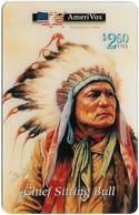 USA - AmeriVox - Perillo Native American Artwork - AVX-Pr118 - Chief Sitting Bull #1, Remote Mem. 2.50$, 5.000ex, Mint - Amerivox