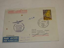 Belgium First Flight Cover 1963 - Belgium