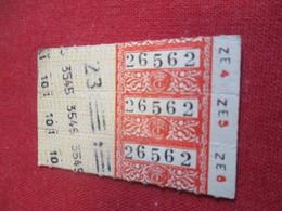 BUS/3 Tickets Anciens Usagés/RATP ? /Publicité Le Kopo  Allume -feu/ Série ZE/ Vers 1950 - 1970  TCK130 - Europa