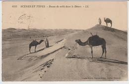 57-C.I.Tunisia Tema Animali: Cammelli E Mestieri:Cammellieri-Tipi Arabi-v.1926 Francobollo Commemorativo Storia Postale - Tunisie