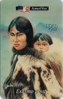 USA - AmeriVox - Perillo Native American Artwork - AVX-Pr234 - Eskimo Love #7, Remote Mem. 2.50$, 5.000ex, Mint - Amerivox