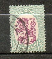 FINLANDE  1m 1/2 Vert Lilas 1925 N°116 - Oblitérés
