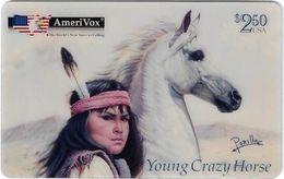 USA - AmeriVox - Perillo Native American Artwork - AVX-Pr375 - Young Crazy Horse #12, Remote Mem. 2.50$, 5.000ex, Mint - Amerivox