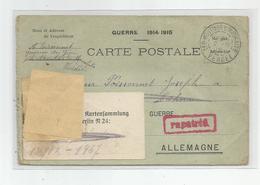 Marcophilie Carte Franchise Militaire Prisonnier De Guerre  Les Moutiers 85 Vendée Pour Allemagne Cachet Rapatrié 1918 - Marcophilie (Lettres)