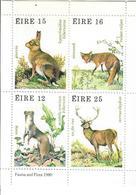 IRLANDA 1980 - FAUNA ANIMALI SELVATICI - FGL - MNH** - 1949-... Republic Of Ireland
