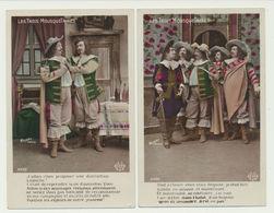 Lot De 2 Cartes - Les Trois Mousquetaires - Photographe Waléry - Teatro