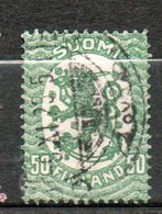 FINLANDE  50p Vert 1921-26 N°103 - Oblitérés