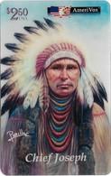 USA - AmeriVox - Perillo Native American Artwork - AVX-Pr592 - Chief Joseph #18, Remote Mem. 2.50$, 5.000ex, Mint - Amerivox