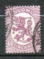 FINLANDE  60p Lilas 1921-26 N°104 - Oblitérés
