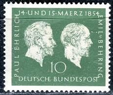 BRD - Mi 197 - ** Postfrisch (A) - 10Pf     Paul Ehrlich Und Emil Von Behring - BRD