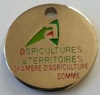 Jeton De Caddie - AGRICULTURES Et TERRITOIRES - CHAMBRE D'AGRICULTURE - SOMME (80) - En Métal - Neuf - - Munten Van Winkelkarretjes