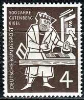 BRD - Mi 198 - ** Postfrisch (A) - 4Pf     Gutenberg-Bibel - BRD