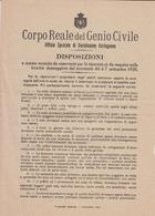 ** CORPO REALE DEL GENIO CIVILE , CASTELNUOVO GARFAGNANA.- (LU).-** - Documenti Storici