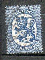 FINLANDE  2m Bleu -bleu Foncé 1928-29 N° 129 - Oblitérés